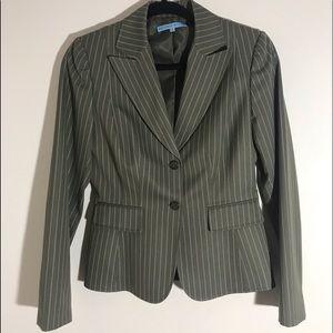 Antonio Melani olive pinstripe Suit
